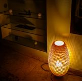 Massage room with low light peaceful colors and decoration, royalty free stock photos