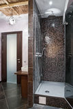 Massage room with shower in spa salon Stock Images