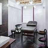 Massage room in a spa salon Stock Image