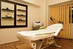 Massage room in spa salon Stock Image