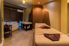 Massage room in a spa salon Stock Photos