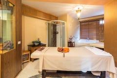 Massage room in a spa salon Stock Photo