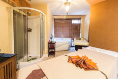 Massage room in a spa salon Royalty Free Stock Image