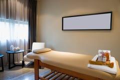 Massage room. In spa saloon Stock Photos