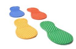 Massage rubber footprint Stock Photos