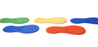 Massage rubber footprint. On white background Royalty Free Stock Image