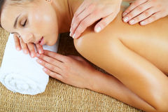 Massage salon Stock Images