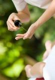 Massage-Schmieröl stockfoto