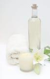 Massage-Schmieröl-Badekurort Stockfotos