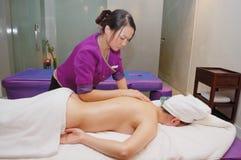 Massage in schoonheidssalon Royalty-vrije Stock Afbeelding