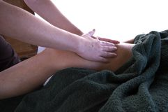 Massage by the sea Stock Photography