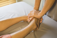Massage series : foot massage Royalty Free Stock Photo