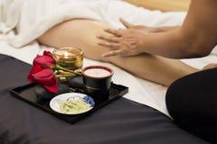 Massage series : leg massage Stock Photos