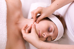 Massage session Stock Images