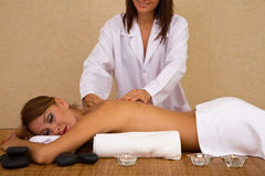 Massage session at spa Royalty Free Stock Photography
