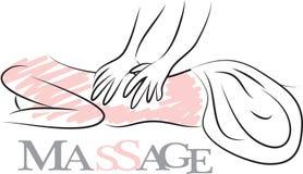 Massage set. Massage logo for your business Stock Photos