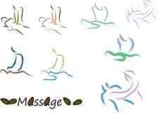 Massage set. Massage logo for your business Royalty Free Stock Photo
