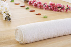 Massage setup detail ready for relaxing Stock Photo