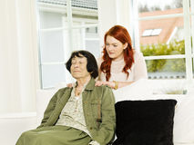 Massage situation Stock Images