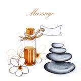 Massage. sketch marker Stock Photo