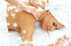Massage with snowflakes #2 Stock Photo