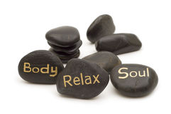 massage spa πέτρες Στοκ Εικόνα