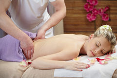 Massage in spa Royalty Free Stock Photo