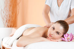 Massage at spa Stock Photos