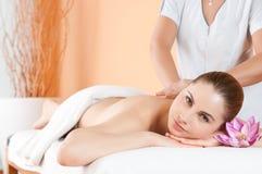Massage at spa Stock Photos