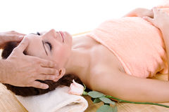 Massage at a spa Stock Photography