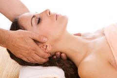 Massage at a spa Stock Photo