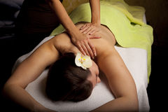 Massage in a SPA center Royalty Free Stock Images