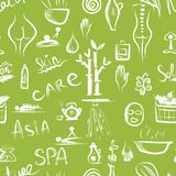 Massage and spa concept, seamless pattern for your Stock Photos