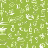 Massage and spa concept, seamless pattern for your Stock Photography