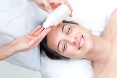 Massage spa. Facial treatment. Royalty Free Stock Images
