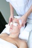 Massage spa. Facial treatment. Stock Photo