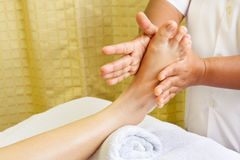 Massage, spa foot  treatment. Stock Photos