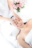 Massage spa. Gezichts behandeling. stock foto