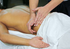 Massage at spa Stock Images