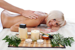 Massage in the spa salon Royalty Free Stock Photos