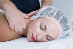 Massage in spa salon Royalty Free Stock Photo