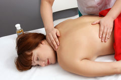 Massage in spa salon Stock Photography