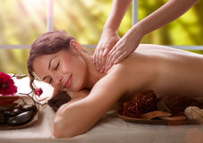 Massage. Spa Salon. Massage Procedures. Spa Salon Outdoor Stock Image