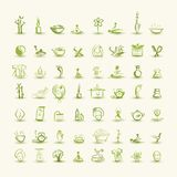 Massage and spa, set of icons for your design Stock Images
