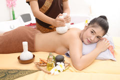 Massage and Spa: Thai massage. And spa for relaxation and healing the pain stock photography