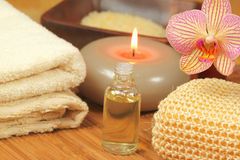 Massage and spa tools Royalty Free Stock Photo