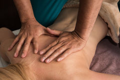 Massage at spa Royalty Free Stock Images