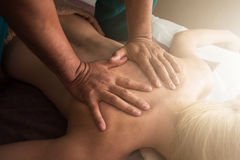 Massage at spa Royalty Free Stock Photo