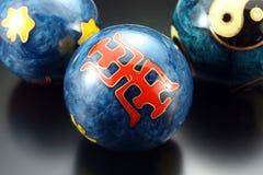 Massage spheres on a black background Stock Image