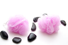 Massage sponge with stone Stock Images